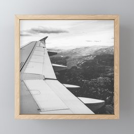 Mountain State // Colorado Rocky Mountains off the Wing of an Airplane Landscape Photo Framed Mini Art Print