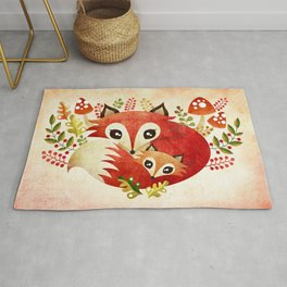 Fox Mom & Pup Rug