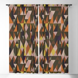 Vintage triangles vibe Blackout Curtain