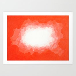 Cadmium Red Clouds Art Print