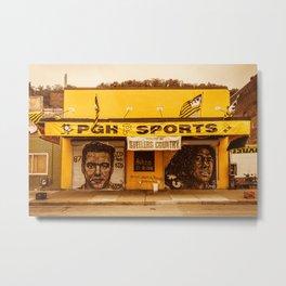 Pittsburgh Sports Pride Strip District City Print Metal Print