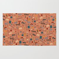 budapest hotel Area & Throw Rugs featuring Budapest Hotel Plot Pattern by Dan Lehman | QRS