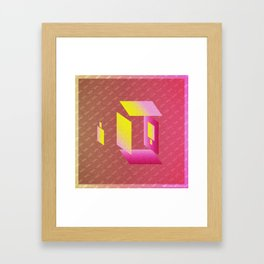 Music in Monogeometry : Camera Obscura Framed Art Print
