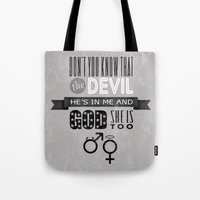 plain Tote Bags featuring 311 - Plain by gatebasher_311