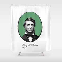 Authors - Henry David Thoreau Shower Curtain