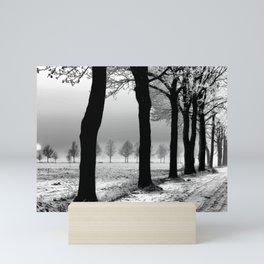 Winter Landscape (Winter Trees, Setting Sun) Mini Art Print