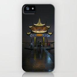 Nighttime Pagoda on West Lake iPhone Case