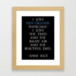 Anne Rice Framed Art Print