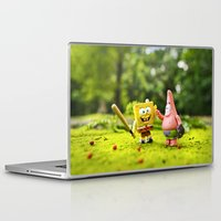 spongebob Laptop & iPad Skins featuring Spongebob & Patrick by m4Calliope