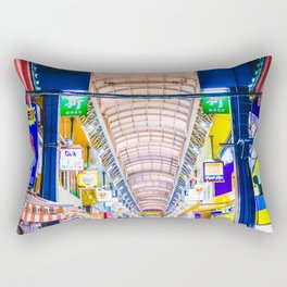 Neon Nakamise Rectangular Pillow
