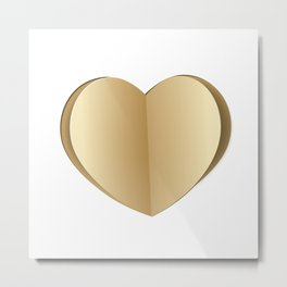 Heart cut out of paper Metal Print