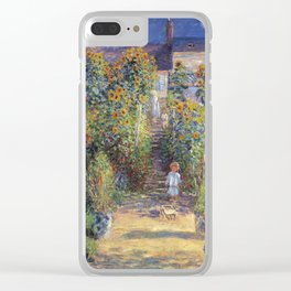 Claude Monet - The Artist's Garden At Vetheuil Clear iPhone Case