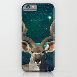 Low-Poly Kudu King iPhone Case