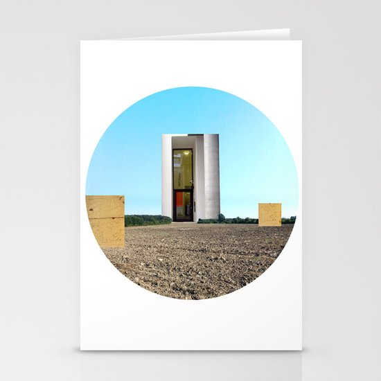 Surreal CityLand Collage 5 Stationery Cards