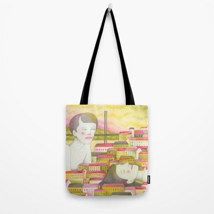 Filles en ville Tote Bag