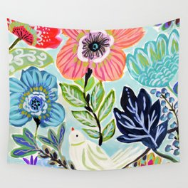 Bird and Blooms Wall Tapestry