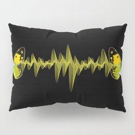 Pulse - Yellow butterflies sound waves Pillow Sham
