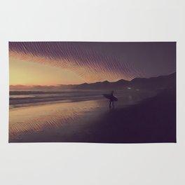 Sunset Surfer Rug