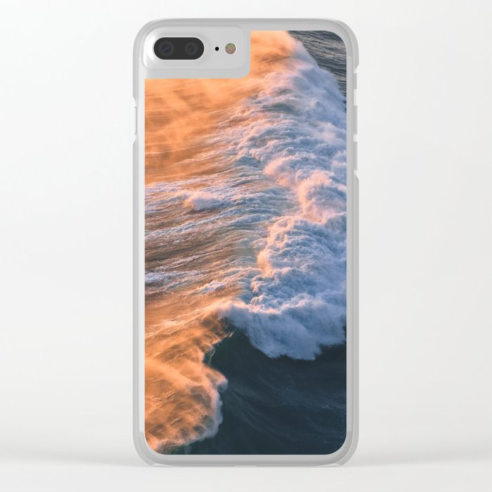 Crashing Ocean Waves Clear iPhone Case