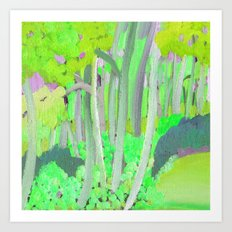 Summer Woodland Art Print