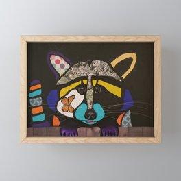 pop art raccoon Framed Mini Art Print