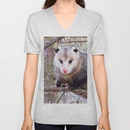 Possum Staredown Unisex V-Neck