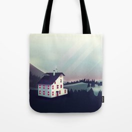 Castle in the Mountains Tote Bag