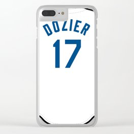 Hunter Dozier Jersey Clear iPhone Case