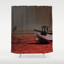 Deseert Boat Shower Curtain