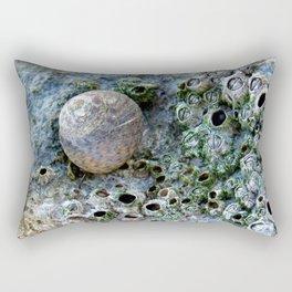 Nacre rock with sea snail Rectangular Pillow