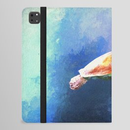 Sea Turtle Watercolor Art iPad Folio Case