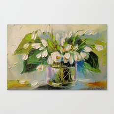 Bouquet of snowdrops Canvas Print