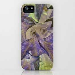 abstract maple leaf in summer season iPhone Case