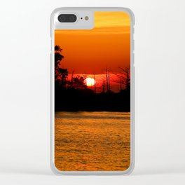 Cape Fear River Sunset Clear iPhone Case