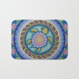 Little Turtle Mandala Bath Mat