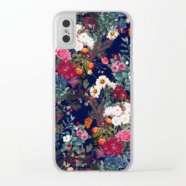 Midnight Garden VI Clear iPhone Case