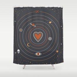 Love Universe Shower Curtain