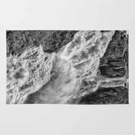 Black and White Beautiful Waterfall Rug