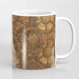 Vintage Gears Pattern (Color) Coffee Mug