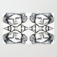harry styles Area & Throw Rugs featuring Harry Styles Drawing by Clairenisbet
