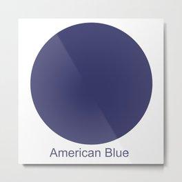 American Blue Metal Print