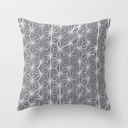 Japanese Tie Dye in Pebble Throw Pillow