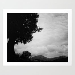 View from the mountain Art Print
