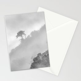 Mountain light. BW square Stationery Cards