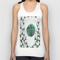 starbucks Tank Tops featuring Starbucks Mermaid  by Clawson Creatives