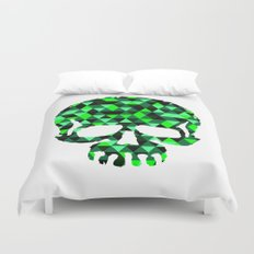 Triangle Camouflage Skull (WITHE) Duvet Cover
