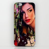 pin up iPhone & iPod Skins featuring Pin Up by Ganech joe