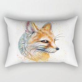 Splatter Paint Fennec Fox Rectangular Pillow