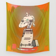 KNIGHT / White / Chess Wall Tapestry