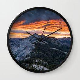 Firey Yosemite Sunrise Wall Clock